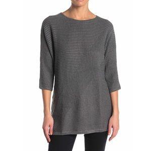 Premise Petite Grey Tunic Sweater Large Petite NEW